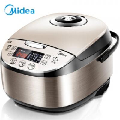 美的(Midea)电饭煲 气动涡轮防溢 金属机身 圆灶釜内胆4L电饭锅MB-WFS4037